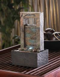 table top water fall lighted zen desk fountain cascading water table fountain indoor