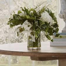 Hydrangea Centerpiece Faux Faux English Ivy U0026 Hydrangea Centerpiece In Decorative Vase