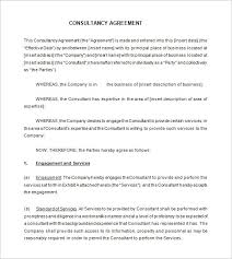 8 consultant contract templates free word pdf documents
