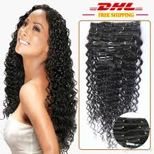 curly hair extensions clip in 120g wave human hair clip in curly hair extensions