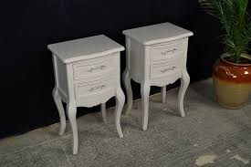 french style side table two new french country style bedside tables painted vintage antique