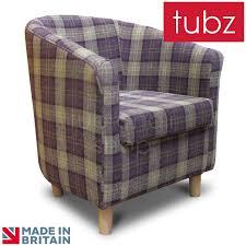 Tartan Armchairs Tub Chairs Tuscany Tub Chair In Lana Purple Grape Tartan Lan1602