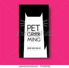 black label hair product line pet grooming label cat silhouette pet stock illustration 691105909