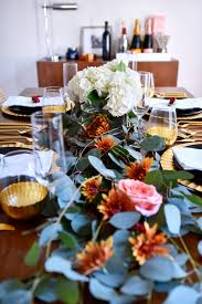 thanksgiving tablescape ideas modern thanksgiving setting black