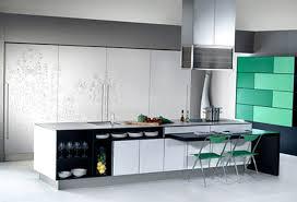 Design For Kitchen Countertops U0026 Backsplash Green Tile Backsplash Red Bar Stools