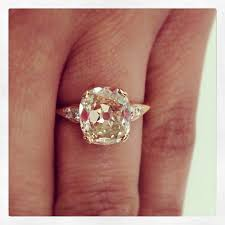 gold cushion cut engagement rings warm and deliciously sparkly a 2 74ct light brown vintage cushion