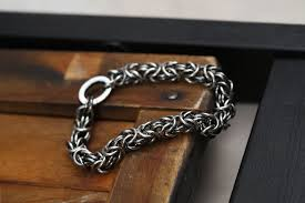 sterling silver bracelet clasp images Hand crafted sterling silver byzantine bracelet antiqued with jpg