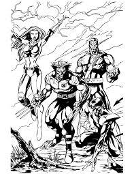 men wolverine team coloring u0026 coloring pages