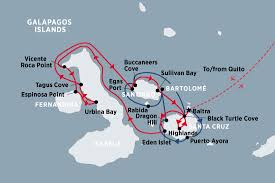 Galapagos Map Classic Galapagos Central U0026 Western Islands M Y Coral