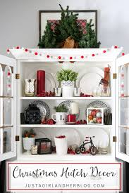 Hutches For Dining Room Christmas Hutch Decor Just A And Her Blog