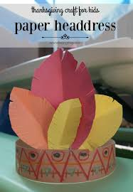 being mvp thanksgiving craft for kids paper headdress
