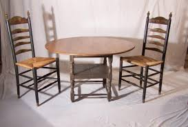 new england tiger maple round top tavern table