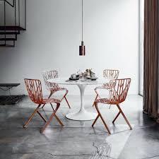 saarinen round pedestal table knoll modern furniture palette