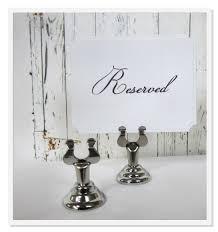 silver sign holder wedding table number stand card holder