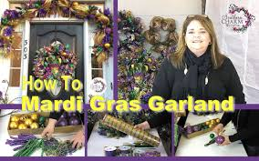 How To Decorate A Swag For Christmas Deco Mesh Mardi Gras Door Garland Sneak Peek Youtube