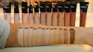 L Shade L Oreal Total Cover Foundation Shade Reference