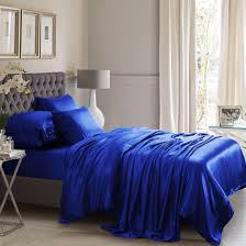 royal blue silk bed linen from the finest mulberry silk