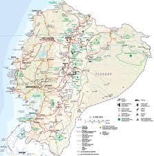 Amazon Rainforest Map Ecuador Roads Through Ecuador From The Coast To The Andes To The