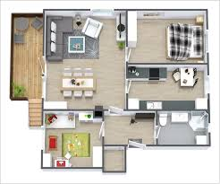 Floor Plan Of 2 Bedroom Flat Two Bedroom Apartment Plan Interesting On Bedroom For 10 Awesome