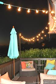 Backyard Light Post by Diy Posts For Hanging Outdoor String Lights House Updated