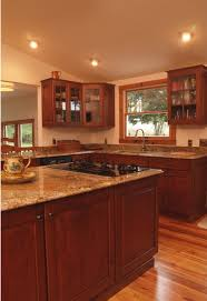 Natural Cherry Shaker Kitchen Cabinets Mahogany Kitchen Cabinets Kitchen Cabinet Pictures Kitchen