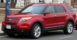 Ford Explorer Xlt 2013 - 2014 ford explorer xlt ruby red metallic tinted clear coat 33890