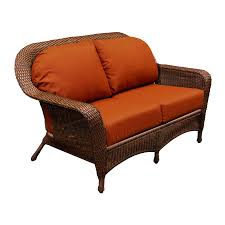Santa Barbara Wicker Patio Furniture - furniture 3 seat of wicker loveseat in brown for home furniture ideas