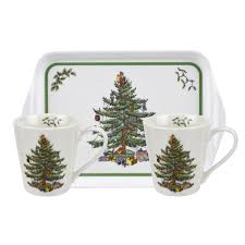 spode christmas tree mug u0026 tray set u2013 house of portmeirion