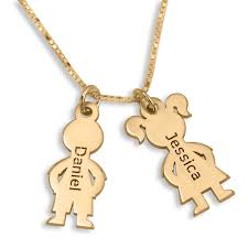 Necklace With Kids Names Gold Plated English Hebrew Kids U0027 Names Mother Necklace Jewish