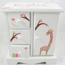 personalized photo jewelry box giraffe girl theme personalized musical jewelry box for