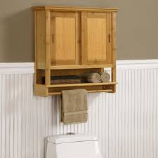 Over The Toilet Storage Cabinets Bathroom Un Varnish Wood Bathroom Wall Storage Cabinet With