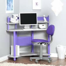 desk kids desk with shelf purple and white hayneedle cool kids