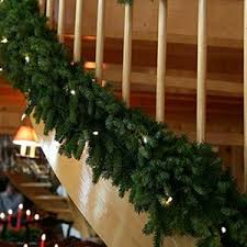 nine foot pre lit garland for delivery