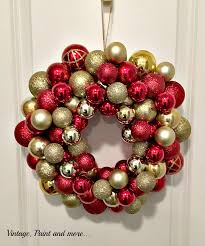 diy ornament wreath vintage paint and more