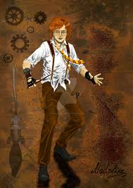 ron weasley steampunk style coloured by madelineslytherin on