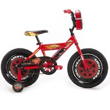 bike motocross boys 16 inch huffy disney pixar cars bike with vehicle storage