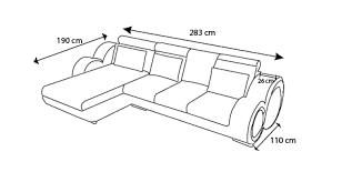 dimension canapé angle canapé d angle cuir 3 places à 5 places canapé d angle cuir