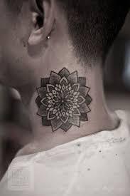 24 elegant mandala neck tattoos