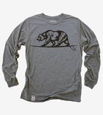 California Flag Bear California Bear Surfing Long Sleeve T Shirt Men U0027s Clothing