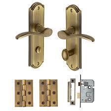 Brass Door Handles Heritage Brass Door Handle For Bathroom Howard Design Antique