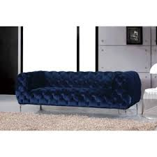 Navy Blue Tufted Sofa Navy Blue Chesterfield Sofa Wayfair