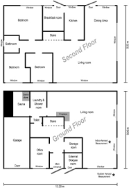 a sketch of the floor plan of the family house and the location of