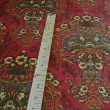 Home Decorating Fabric Posh Victorian Ornate Floral Printed Brushed Cotton Velvet Drapery