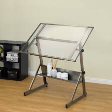 Drafting Table Images Studio Designs Solano Adjustable Glass Drafting Table Hayneedle
