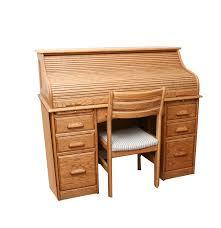 Secretary Computer Desk by Wood Revival Oak Secretary Roll Top Desk And Chair Ebth