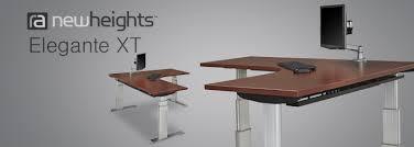 Stand Up Corner Desk Newheights Corner Height Adjustable Standing Desk
