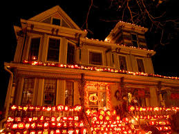 Halloween House Light Show by Pumpkin Led String Lights Battery Operated 10 Lights Funny
