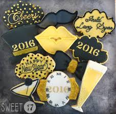 New Year S Eve Cookie Decorating Ideas by