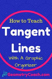 how to teach tangent lines graphic organizer geometrycoach com