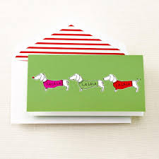 singing dachshunds foldover holiday cards crane com